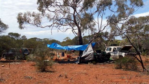 Mr Graham's vehicle was found at a campsite north-east of Menzies. Image: http://www.watoday.com.au